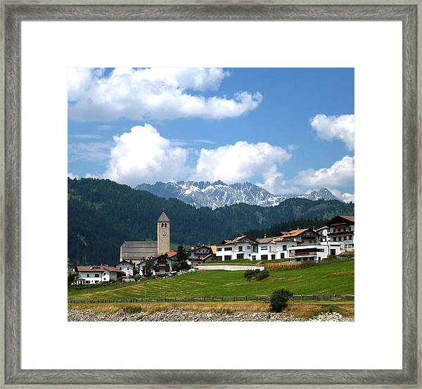 Peaceful Village Framed Print