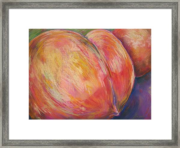 Peach Bottom Framed Print