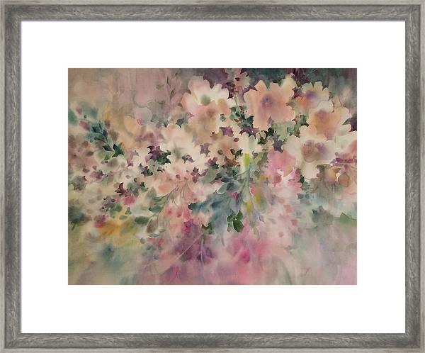 Peach Parfait Framed Print