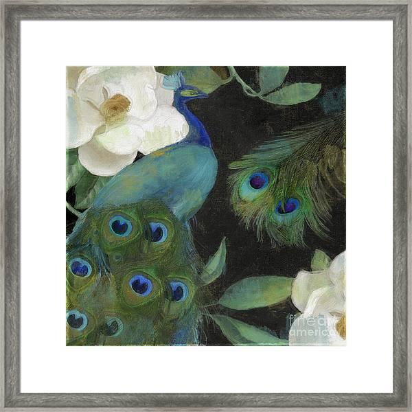 Peacock And Magnolia II Framed Print