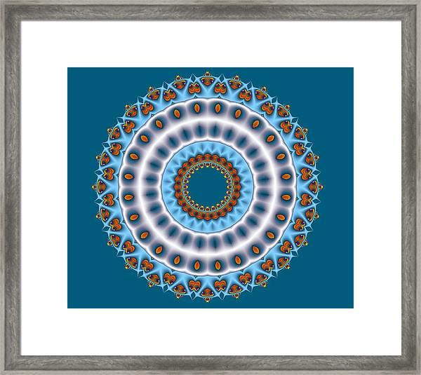 Peacock Fractal Mandala I Framed Print
