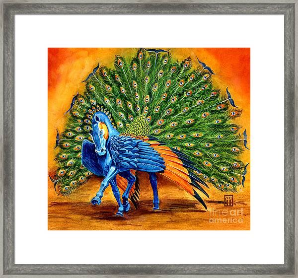 Peacock Pegasus Framed Print