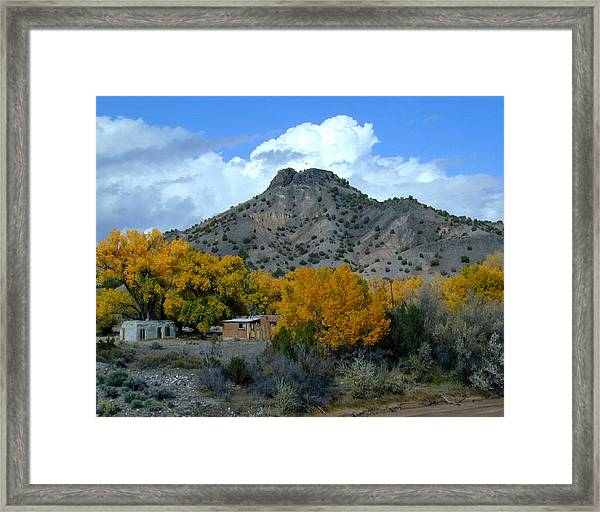 Framed Print featuring the photograph Peak Above Yellow by Joseph R Luciano