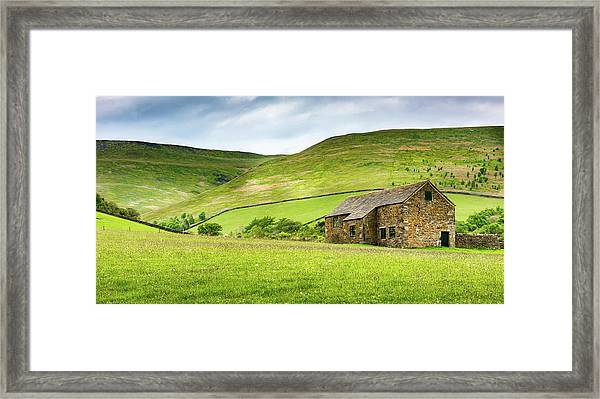 Framed Print featuring the photograph Peak Farm by Nick Bywater