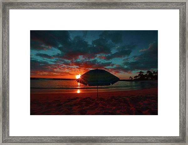 Peaking Sunset Framed Print