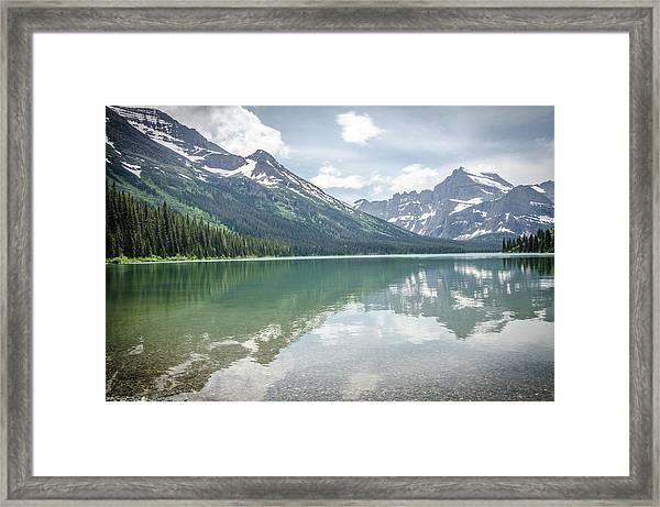 Peaks At Lake Josephine Framed Print