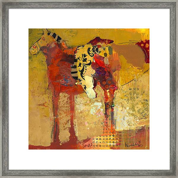 Framed Print featuring the painting Peanut Butter And Jelly by Shelli Walters