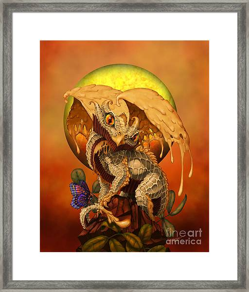 Peanut Butter Dragon Framed Print