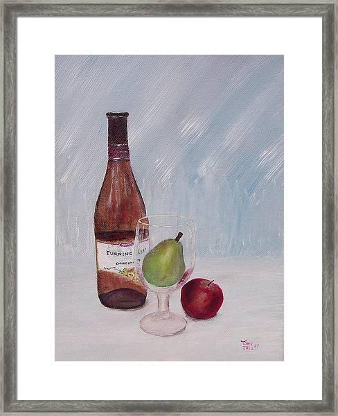 Pear In Glass Framed Print