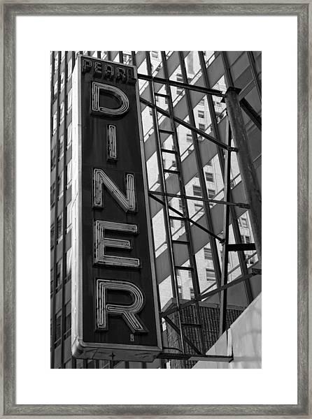 Pearl Diner Framed Print