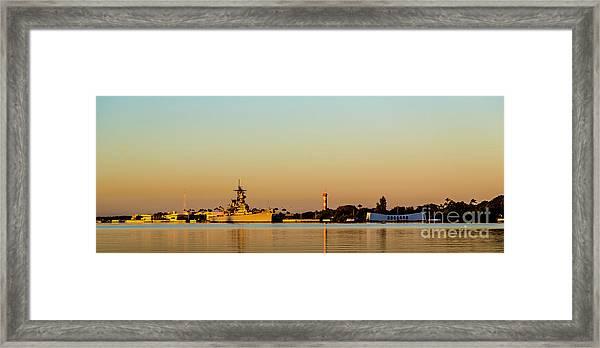 Pearl Harbor Dawn Framed Print