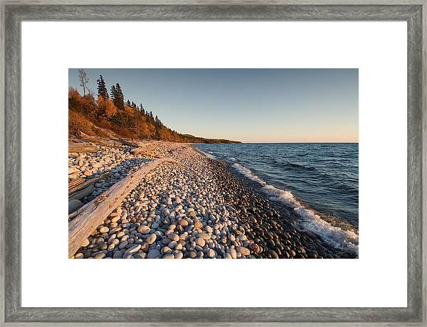 Pebble Beach Autumn    Framed Print