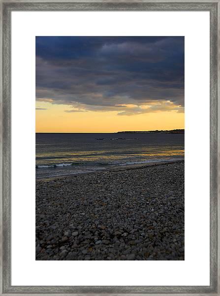 Pebble Beach Sunset Framed Print