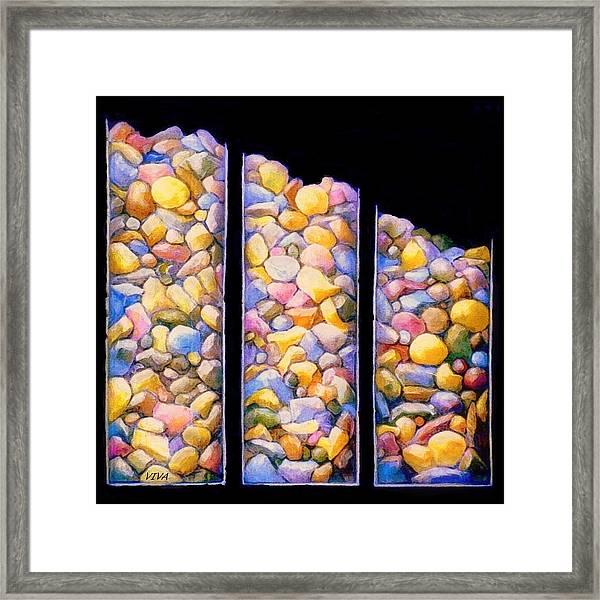 Pebble Dash Framed Print