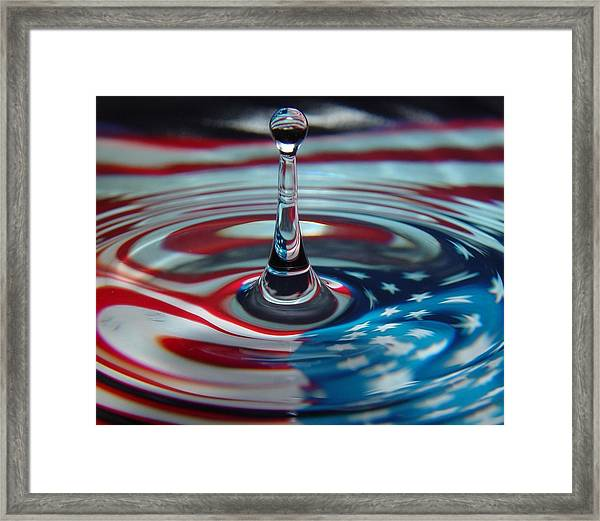 Pebble In The Pond Framed Print