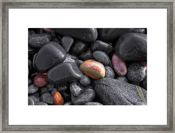 Pebble Jewels   Framed Print