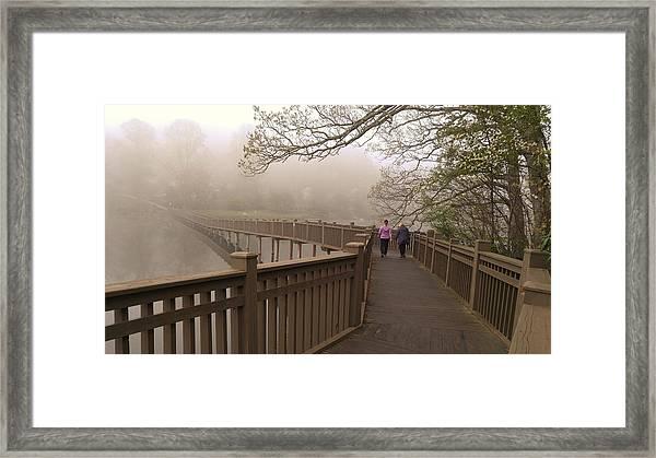 Pedestrian Bridge Early Morning Framed Print