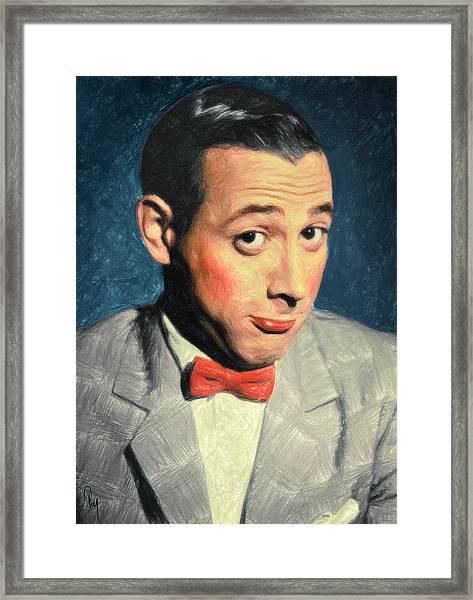 Pee-wee Herman Framed Print