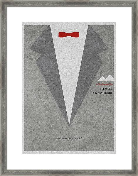 Pee-wee's Big Adventure Framed Print