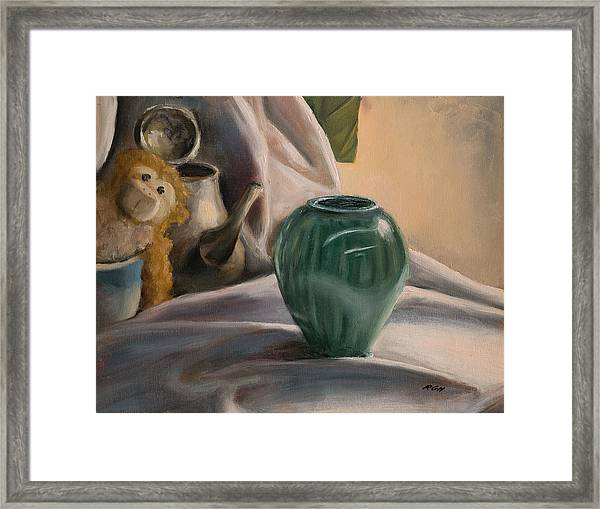 Framed Print featuring the painting Peek-a-boo by Break The Silhouette