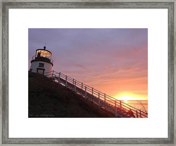 Peeking Sunrise Framed Print