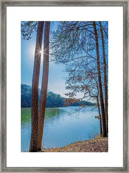Peeping Sun Framed Print