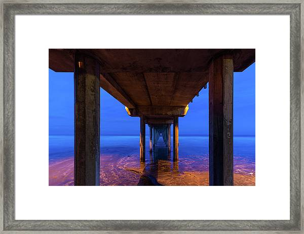 Peer Underneath Framed Print