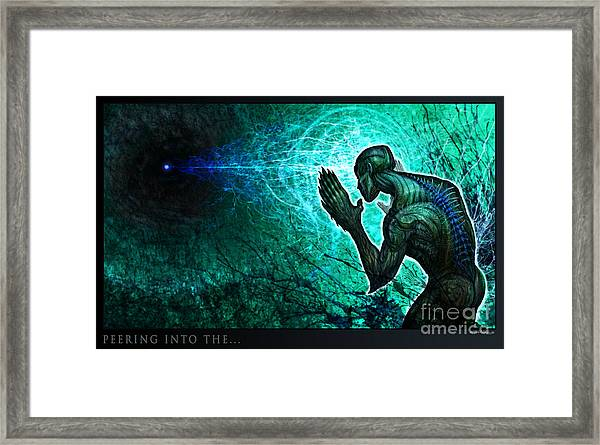Peering Into The... Framed Print
