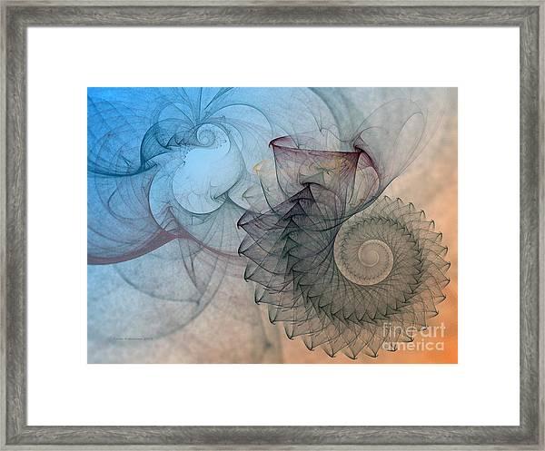 Pefect Spiral Framed Print