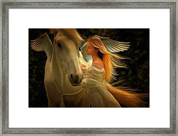 Pegasus Or Angel Framed Print