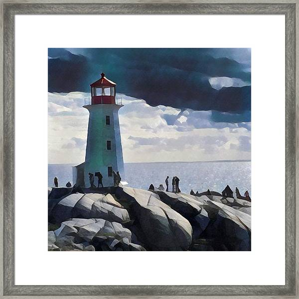 Peggy Painting Framed Print