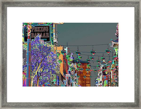 Peking Bazaar Framed Print