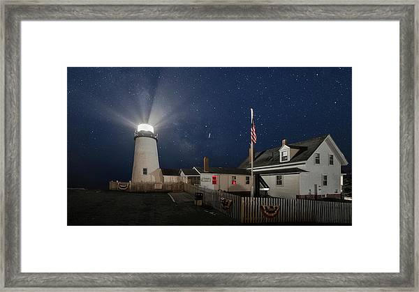 Pemaquid Point Light Flare Framed Print