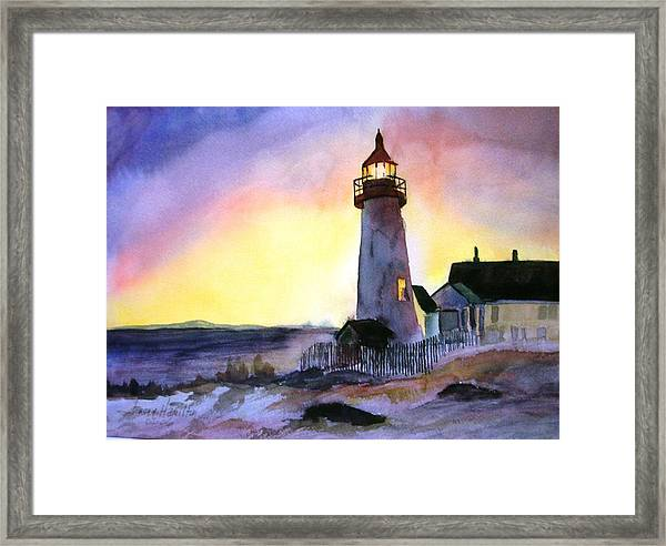 Pemaquid Point Lighthouse Maine Framed Print