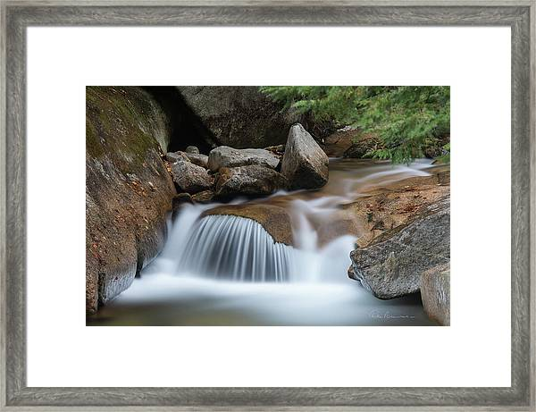 Pemigewasset Cascade 8291 Framed Print