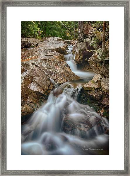 Pemigewasset Cascade 8378 Framed Print