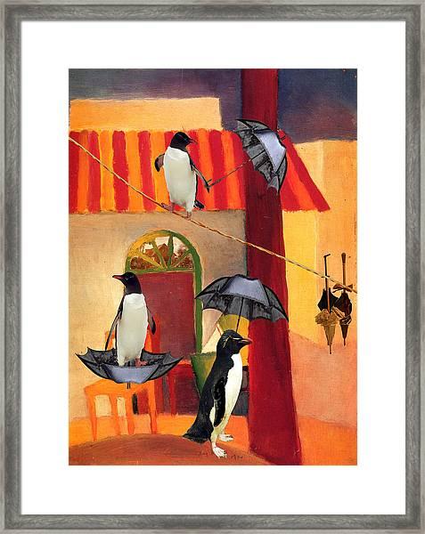 Penguin Cafe Framed Print