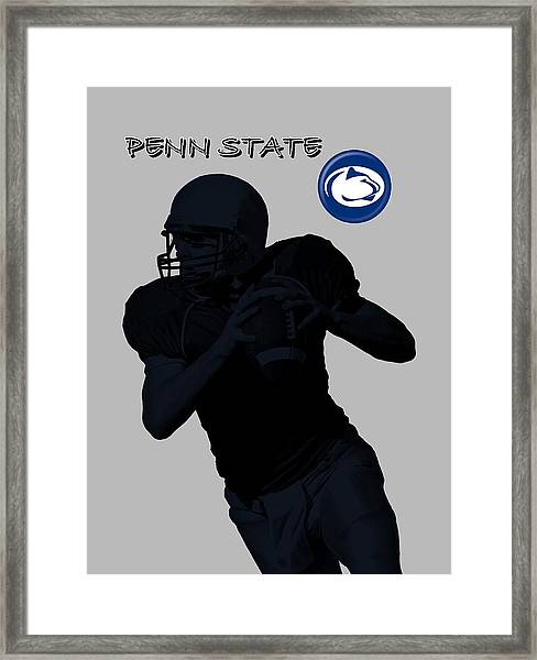Framed Print featuring the digital art Penn State Football by David Dehner
