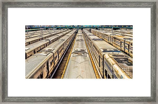 Penn Station Train Yard Framed Print