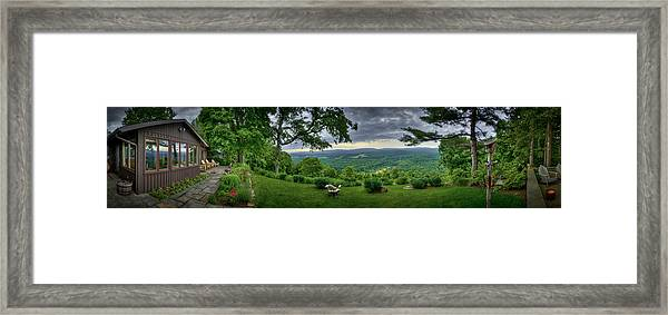 Framed Print featuring the photograph Pennsylvania Overlook by Williams-Cairns Photography LLC