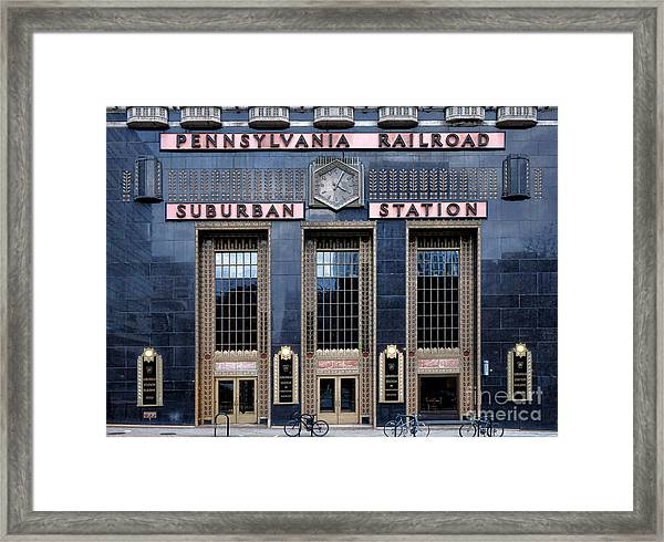 Pennsylvania Railroad Suburban Station Framed Print