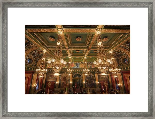 Pennsylvania Senate Chamber Framed Print