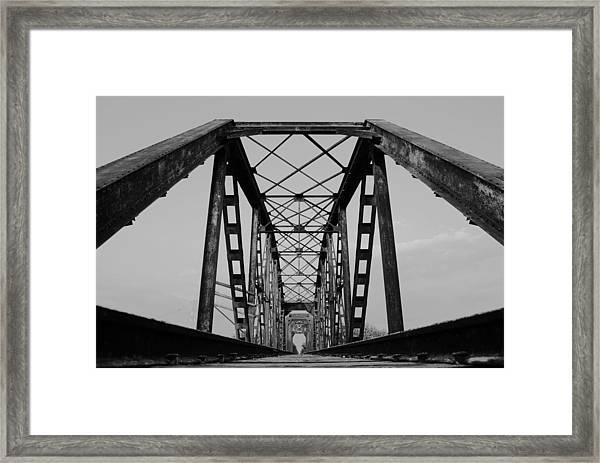 Pennsylvania Steel Co. Railroad Bridge Framed Print