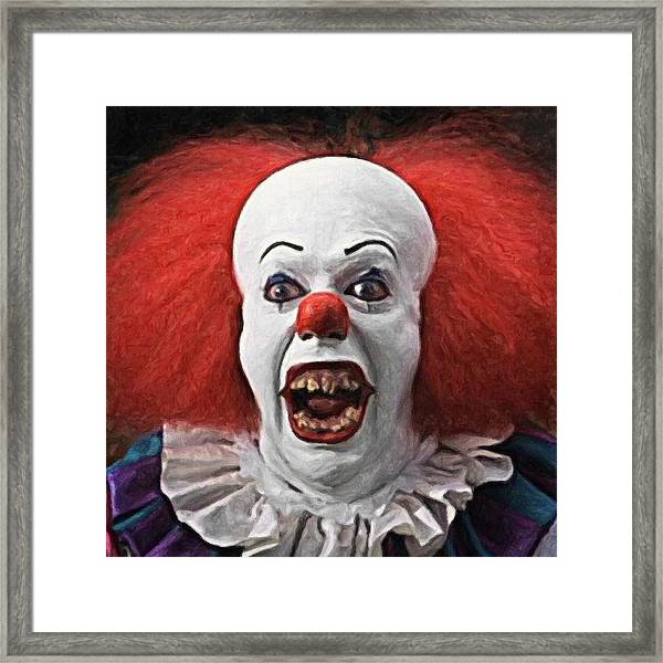 Pennywise The Clown Framed Print