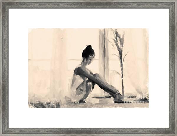 Pensive Ballerina Framed Print