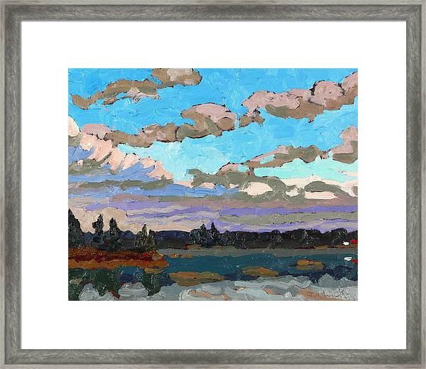 Pensive Clouds Framed Print