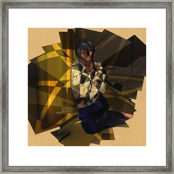 Pensive Woman Framed Print