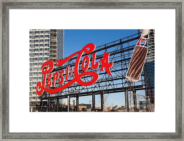 Pepsi-cola Sign I Framed Print