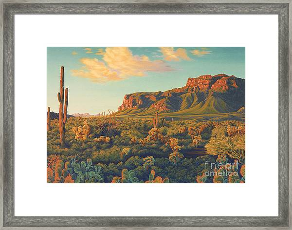 Peralta's Gold Framed Print