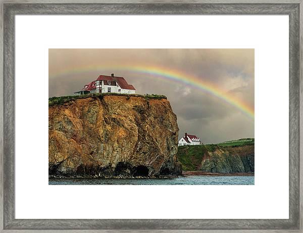 Perce Rainbow Framed Print